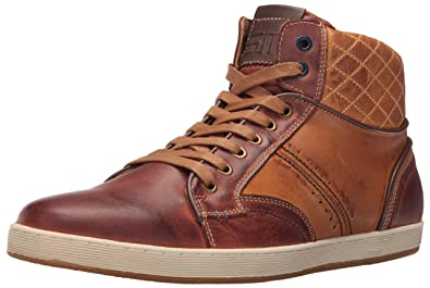 Steve Madden Men's Bunker Fashion Sneaker, Tan Leather, ...