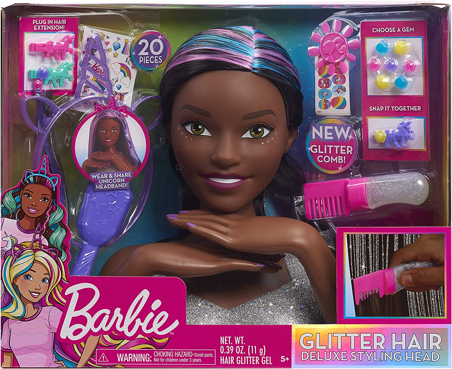 Barbie Rainbow Sparkle Deluxe Styling Head Blonde Hair Overstock 31932631