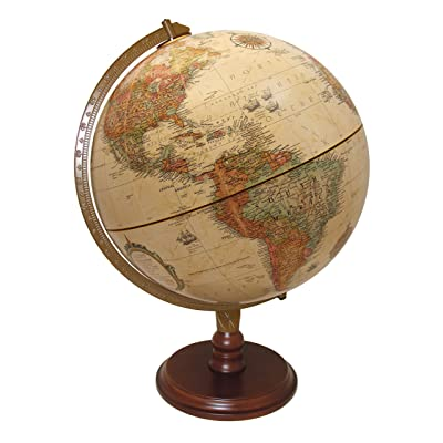 """Replogle Lenox, 12""""/30cm diameter Antique Style, Desktop Globe, Classic World Globe with up-to-date Cartography, Made in USA: Replogle Globes: Home & Kitchen"""