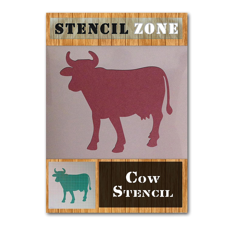 A1 Gr/ö/ße Stencil - XLarge Kuh Zwei Farm Animal Mylar Malerei Wand-Kunst-Schablone Hauptdekor DIY Kunst-Handwerk