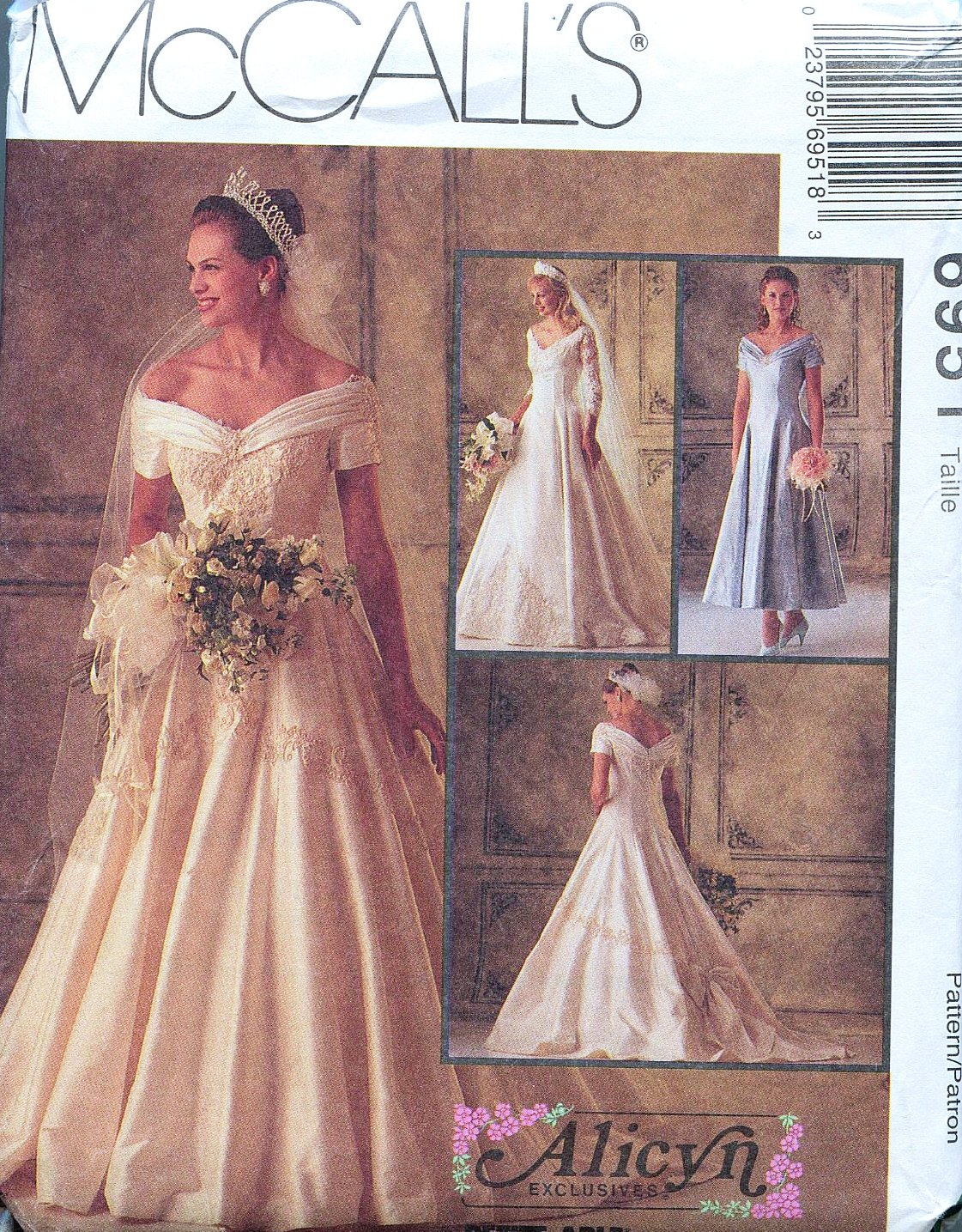 Amazon McCalls 6951 Misses Bridal Gowns And Bridesmaids Dress Alicyn Sewing Pattern Size 12 Bust 34 Arts Crafts