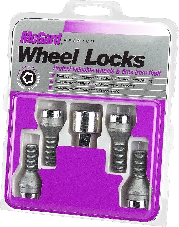 McGard 28174 Chrome Bolt Style Radius Seat Lock Bolt Set
