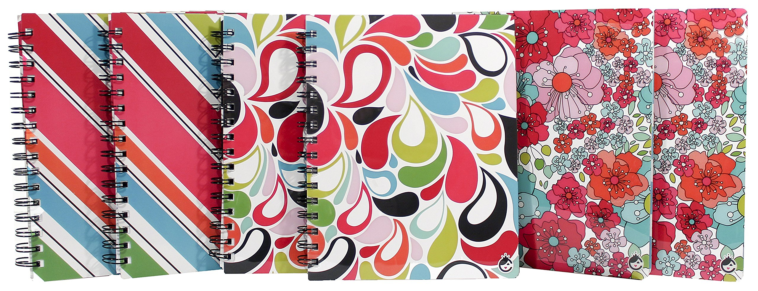 Studio C Sugarland Ideal Notebook, 8.6'' x 6.5'', College Ruled, 120 Sheets, Assortment of 6 Notebooks (25511)