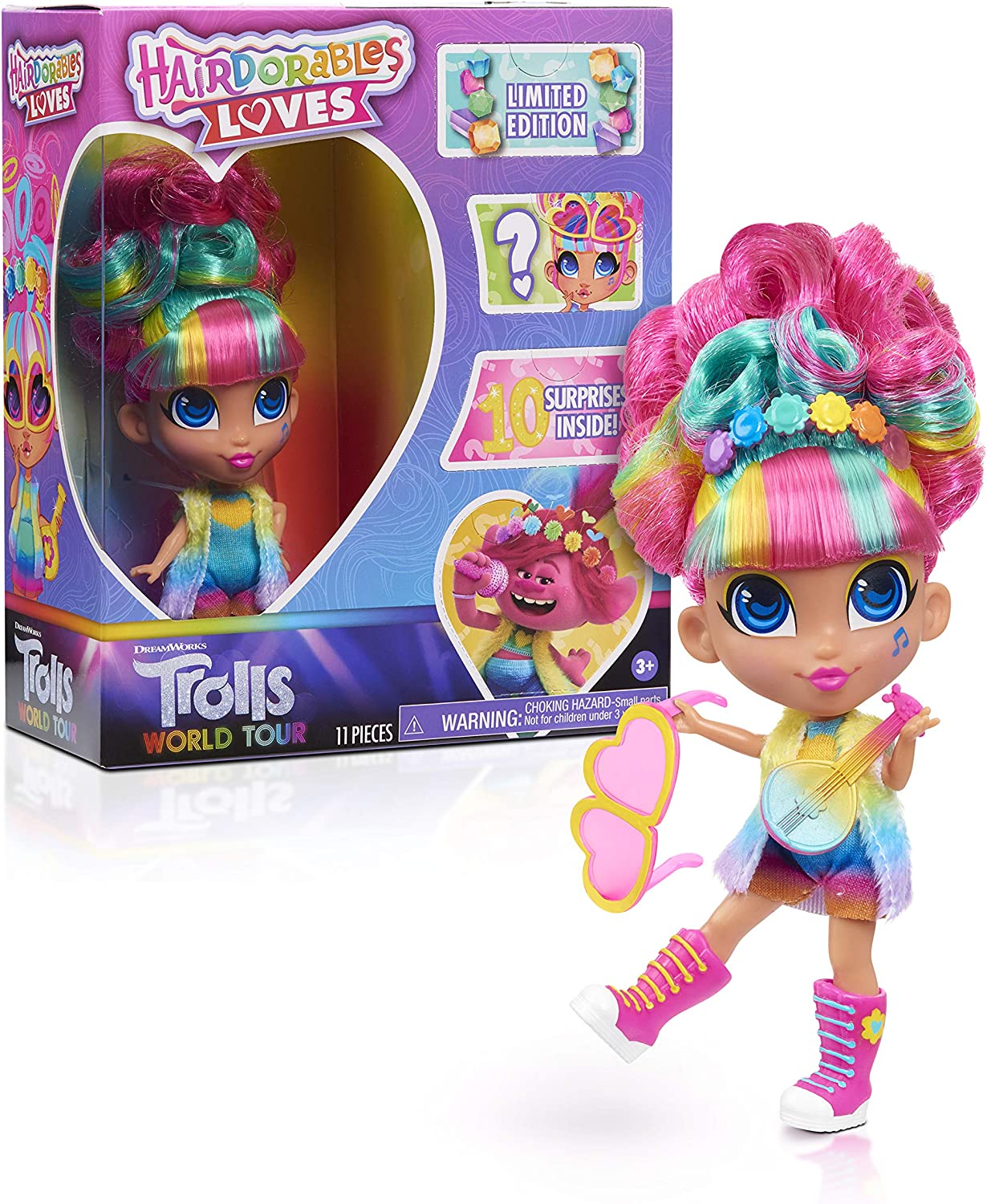 JP Hairdorables HAA08000 Hairdorables Loves Trolls 22% OFF £13.99 @ Amazon