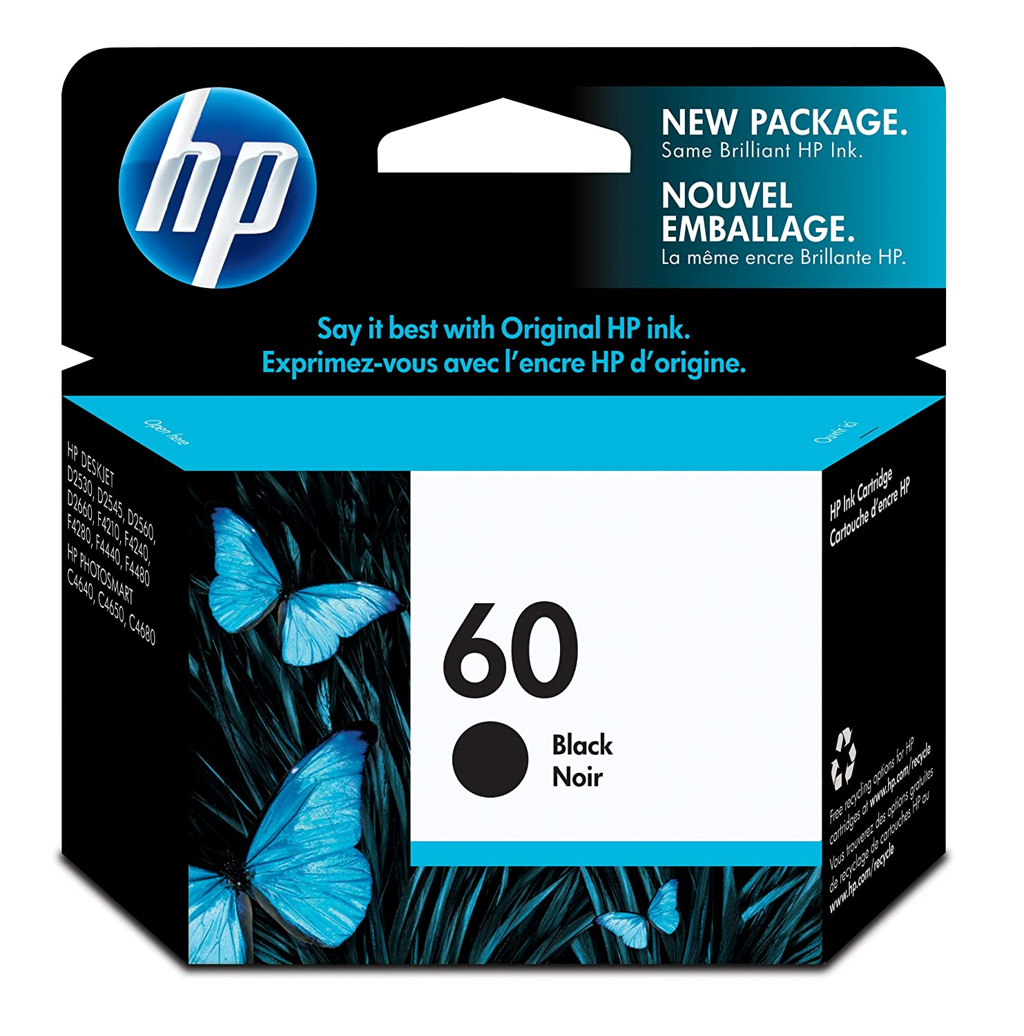 Amazon: Hp 60 Black Original Ink Cartridge (cc640wn): Office Products