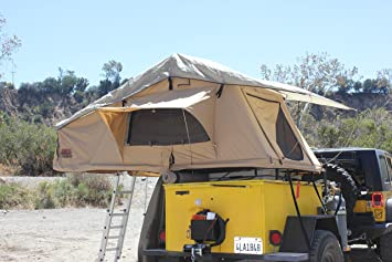 Tuff Stuff Overland Roof Top C&ing Tent with Annex Room- Tan Driving Cover & Amazon.com : Tuff Stuff Overland Roof Top Camping Tent with Annex ...