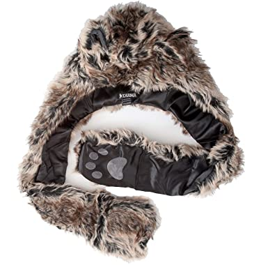 3c0c0cb42b8 Hats Childrens 7.6cm 1 Fleece Lined Furry Animal Hat with Scarf Attached