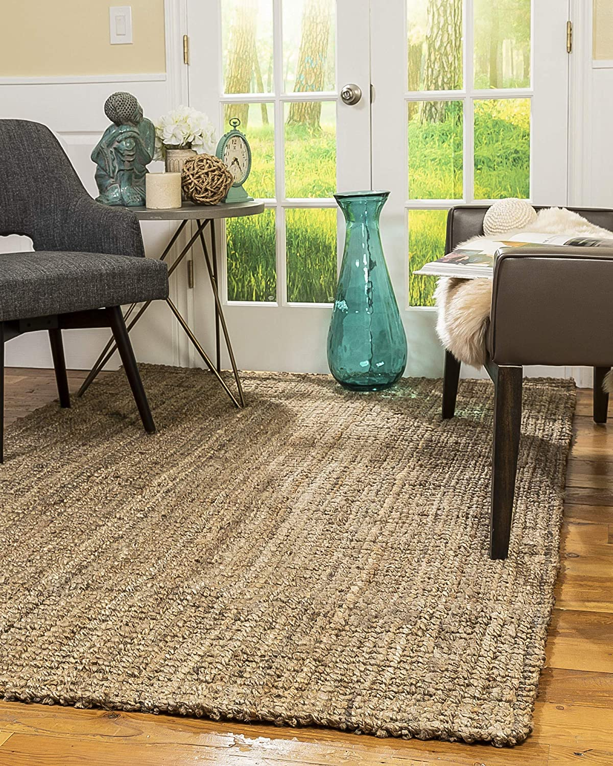 Gideon Handmade Chunky Jute Rug by Natural Area Rugs from Amazon.com | Designer Finds: Bringing Natural Elements Into Your Home | Jade and Sage Interior Design | eDesign Tribe Blogs