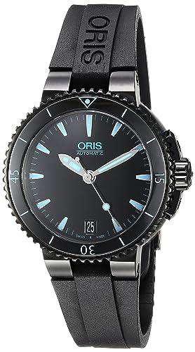 ORIS AQUIS DATE RELOJ DE MUJER AUTOMÁTICO 36MM CORREA DE GOMA 73376524725RS: Amazon.es: Relojes