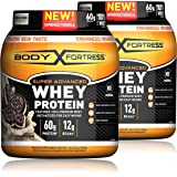 Body Fortress Super Advanced Whey Protein Powder, Cookies N' Cream, 2 Pound, 2 Pack, (4lbs Total) (Packaging May Vary)