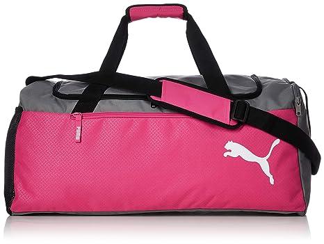 Puma Unisex s Fundamentals Sports Bag M Beetroot Purple-Steel Gray ... 642b910f55b8a