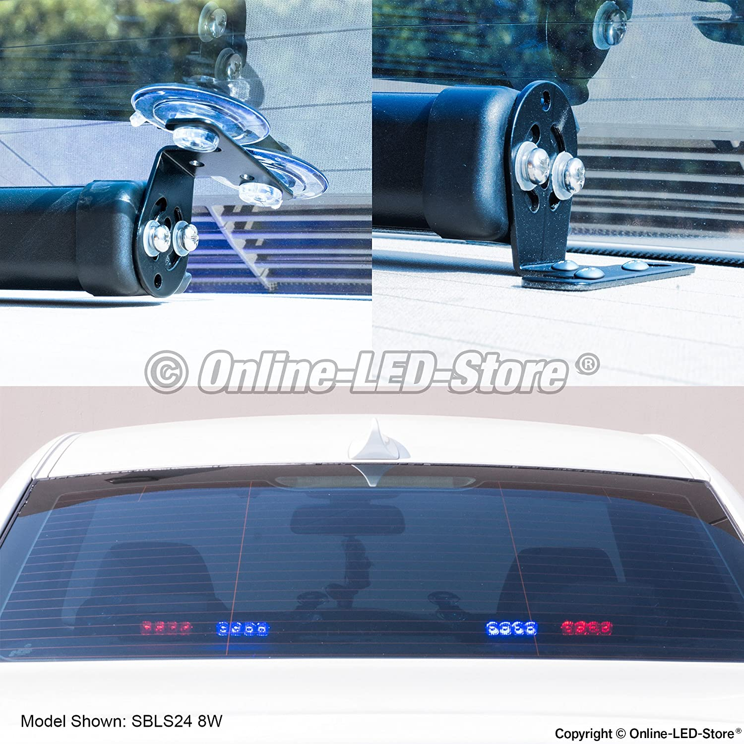 Lamphus Solarblast Sbls44 16w Led Strobe Warning Deck Whelen Tir3 Wiring Diagram Light Bar Blue Automotive