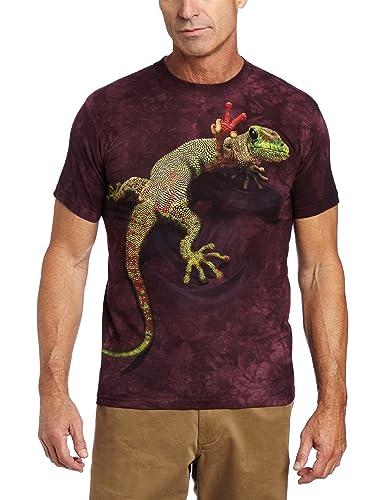 92a9b8d16 Amazon.com: The Mountain Men's Peace Out Gecko T-shirt: Clothing