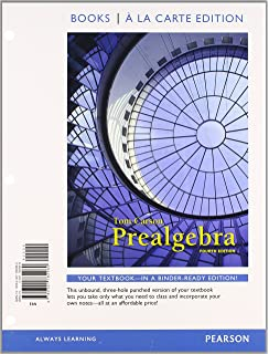 Prealgebra 4th edition tom carson 9780321756954 amazon books prealgebra books a la carte edition 4th edition fandeluxe Choice Image