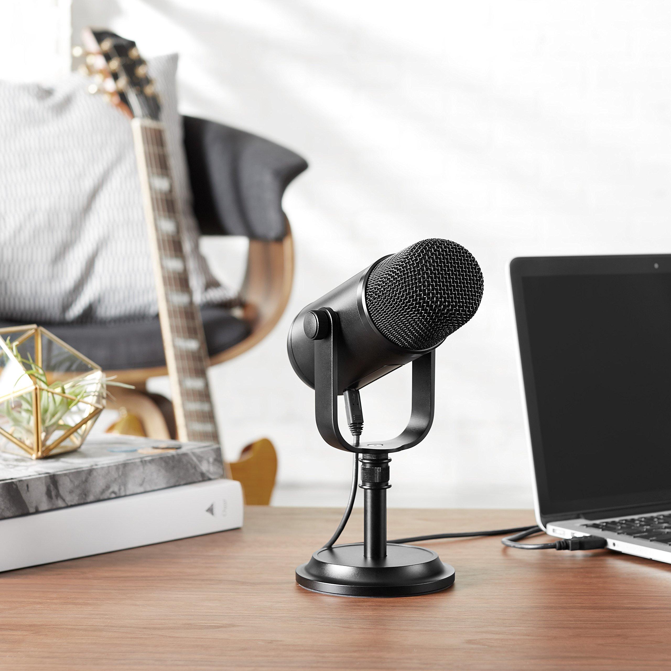amazonbasics professional usb condenser microphone black techadict. Black Bedroom Furniture Sets. Home Design Ideas