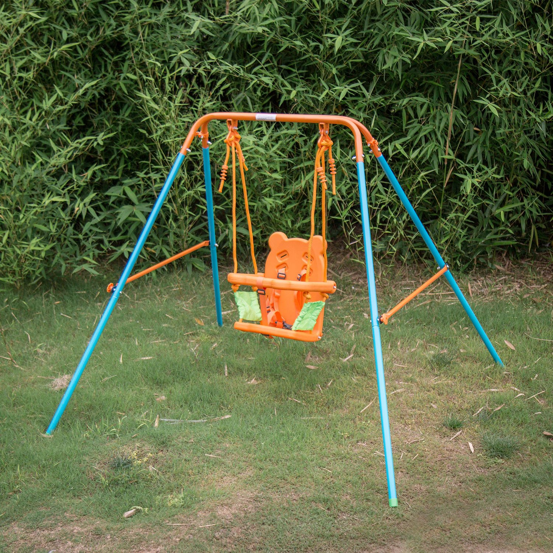Kinbor Fun Infant to Toddler Swing Play Set Outdoor Backyard