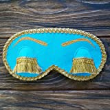 Audrey Hepburn Sleep Mask with Embroidery Eyelashes Holly Golightly Sleep Masks Breakfast at Tiffanys Eye Mask