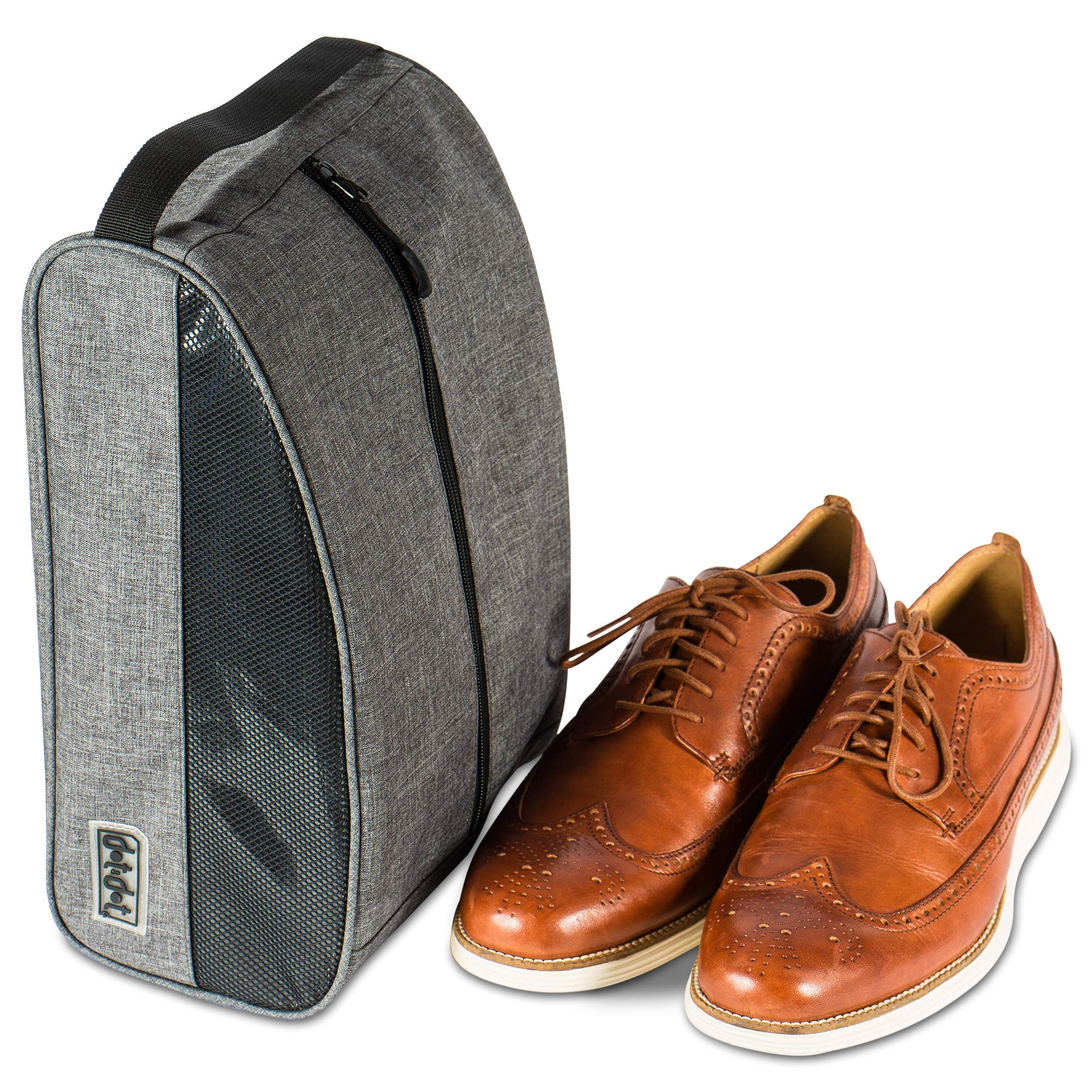 Travel Shoe Bag by Dot&Dot - Premium Packing and Storage Solution for Shoes with Mesh and Handle to Conveniently Organize and Transport Your Shoes While Traveling (Gray, One_Size) by Dot&Dot