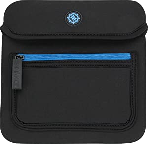 ENHANCE External Disc Drive Case USB CD DVD Writer Blu Ray - Accessory Storage Travel Bag - Compatible with LG, Dell, ASUS, Apple, Trackpad and More (up to 7 x 7 Inches) with Neoprene Construction