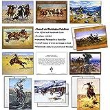 5 Charles M Russel Native American Greeting Cards Old American West Vintage Blank Unused