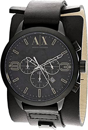 Image Unavailable. Image not available for. Color  Armani Exchange  Chronograph Black ... cffa307cf9