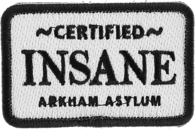 BATMAN ARKHAM ASYLUM CERTIFIED INSANE IRON ON EMBROIDERED PATCH FREE SHIPPING