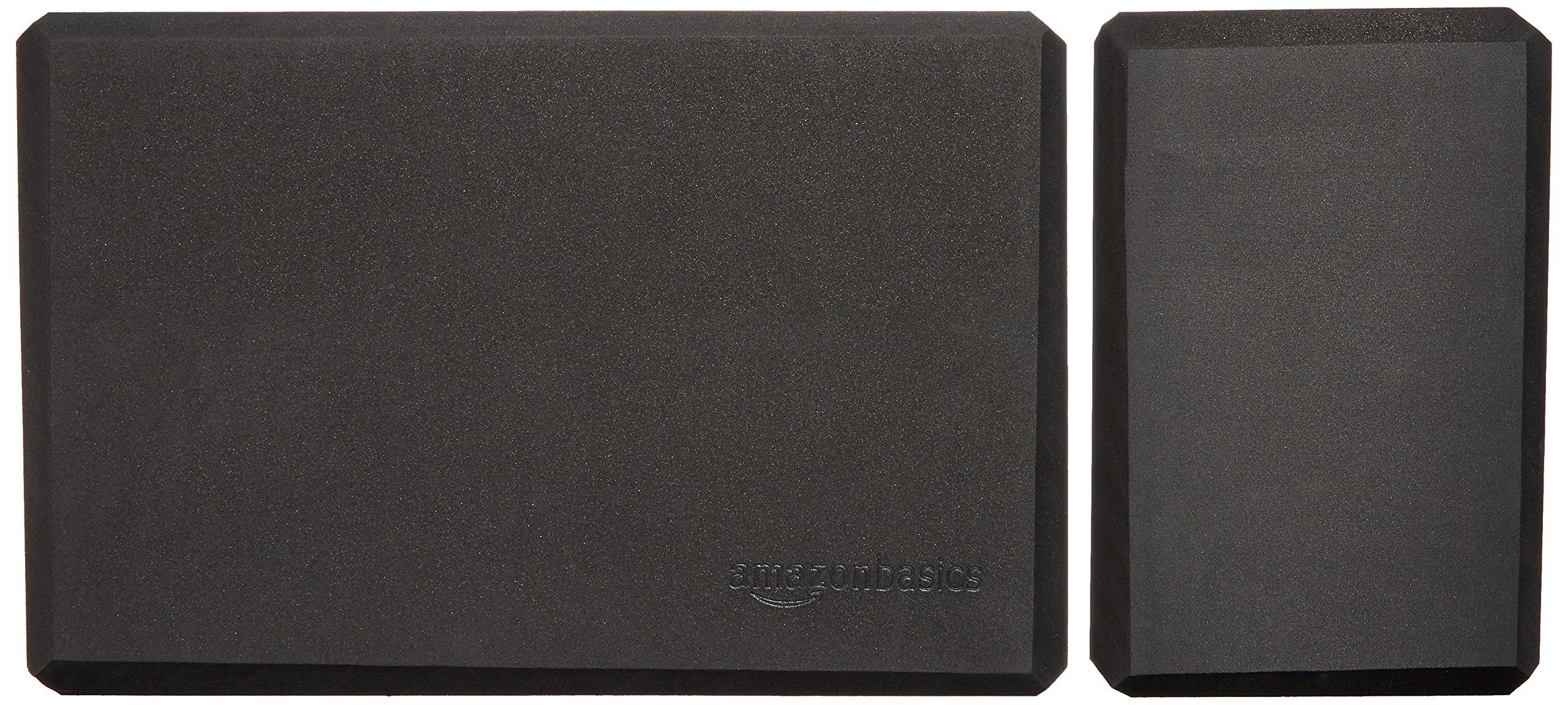 AmazonBasics Foam Yoga Blocks - 4 x 9 x 6 Inches, Set of 2, Black by AmazonBasics (Image #6)