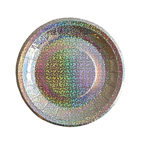 Bash Party Goods 100117 Mini Disco Paper Plates Silver  sc 1 st  Amazon.com & Amazon.com: Bash Party Goods 100117 Mini Disco Paper Plates ...