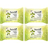 Aveeno Positively Radiant Makeup Removing Wipes 25 ea Pack of 4