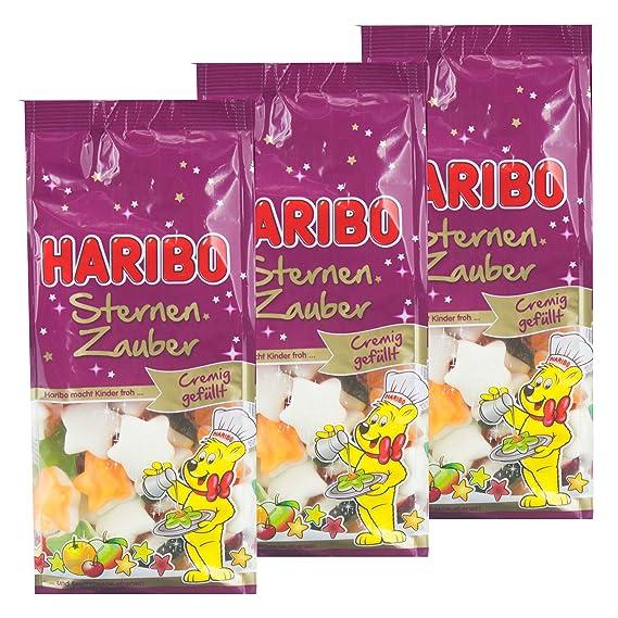 Haribo Navidad Golosinas, Juego de 3, estrellas mágica, goma espuma Osos, azúcar