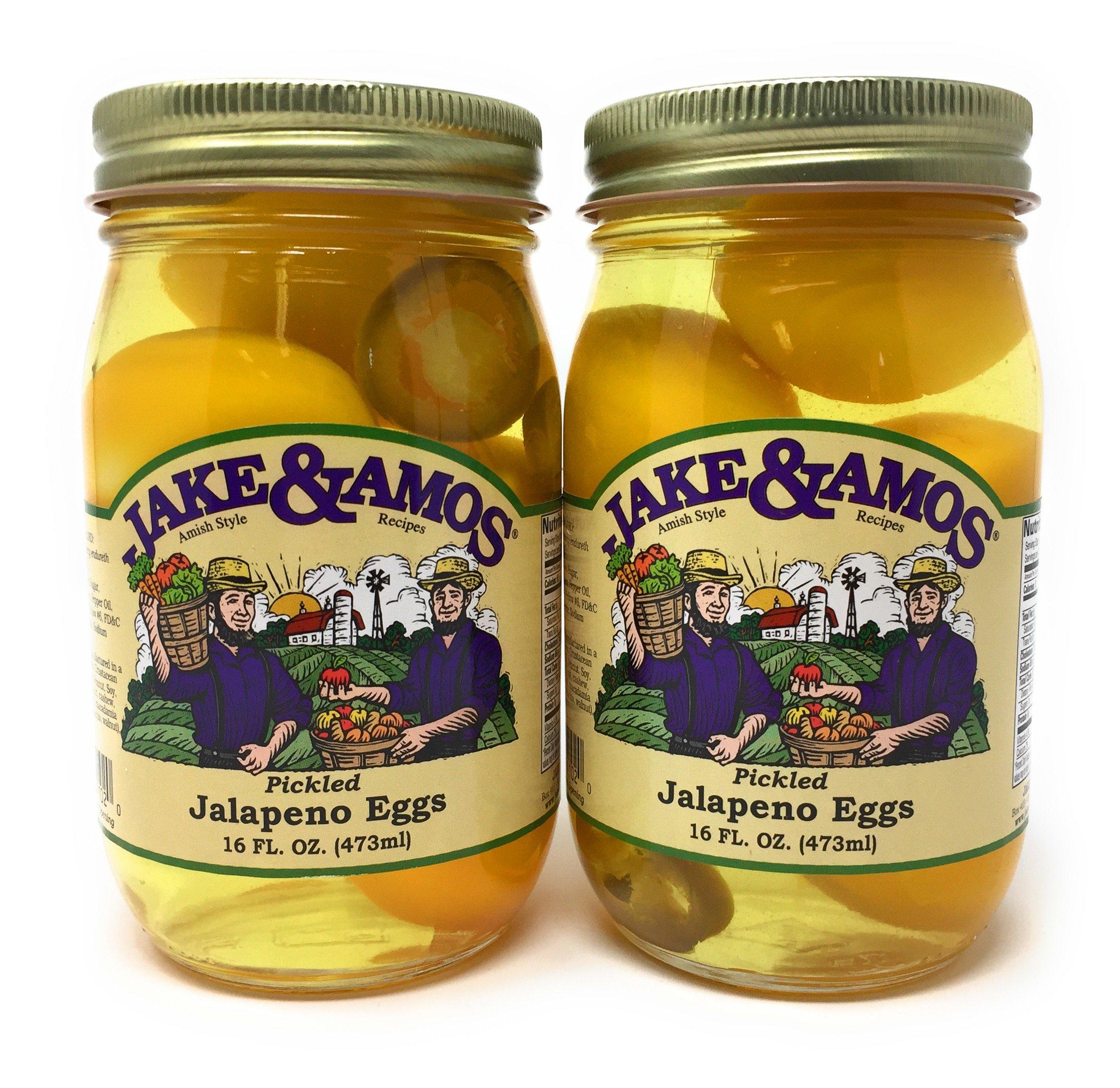 Jake & Amos - Pickled Jalapeno Eggs / 2 - 16 Oz. Jars