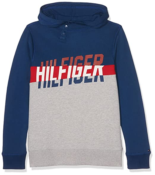 Tommy Hilfiger Boys Sweatshirt Ame Hilfiger HD Zipthru Hwk L   S   Amazon.co.uk  Clothing a92487d93aff
