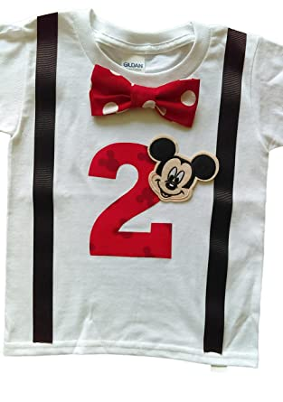 Amazon 2nd Birthday Shirt Boys Mickey Mouse Tee Clothing