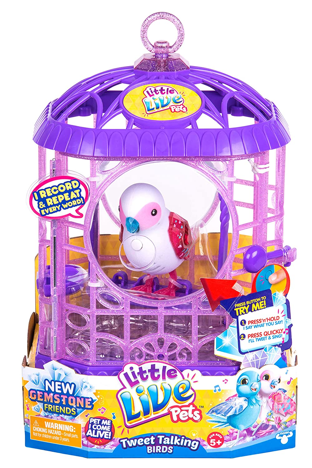 Little Live Pets 630996283585 (Toy Bessie Beast S6 Bird Cage with 1 x user manual