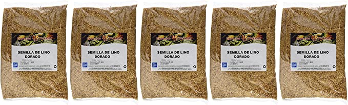 Especias Pedroza Semilla de Lino Dorado - 5 Paquetes de 1000 gr - Total: 5000 gr: Amazon.es: Alimentación y bebidas