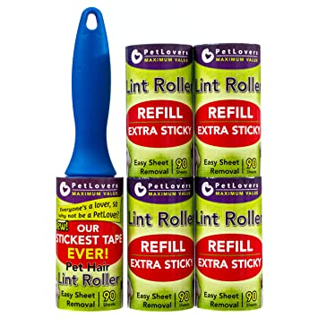 Amazon.com: PetLovers - Rodillo de pelusa, extra adhesivo ...