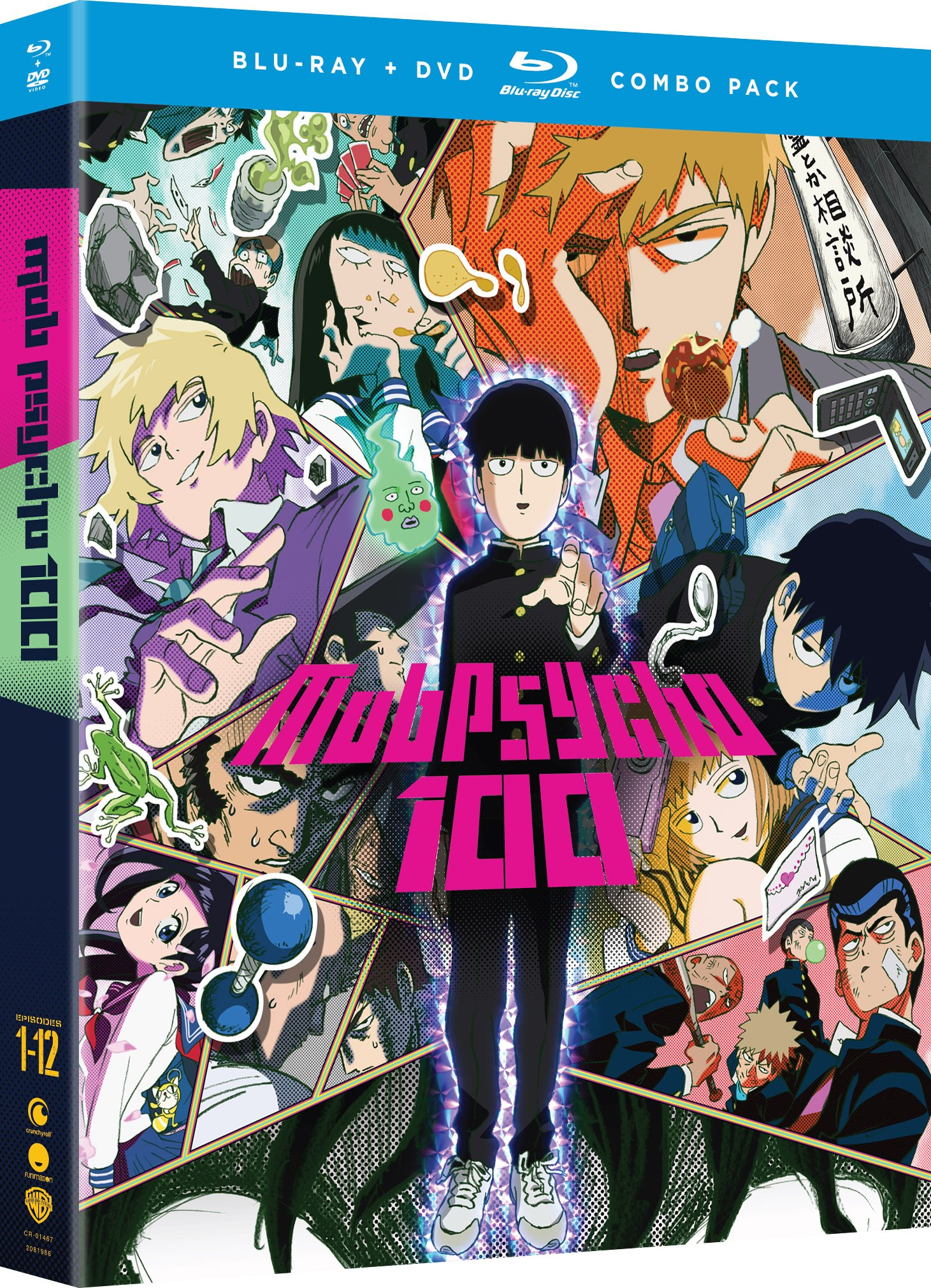 Blu-ray : Mob Psycho 100: The Complete Series (With DVD, Boxed Set, 4 Disc)
