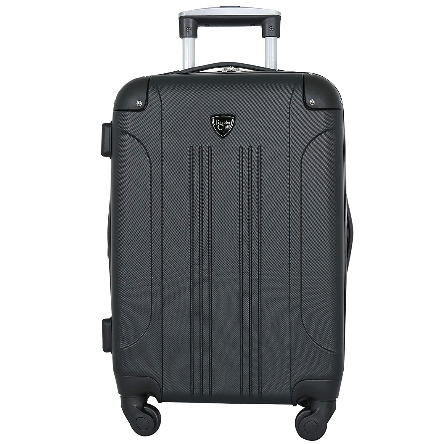 7a34e07f01fc Travelers Club Luggage Chicago 20 Inch Expandable Carry-On Spinner ...