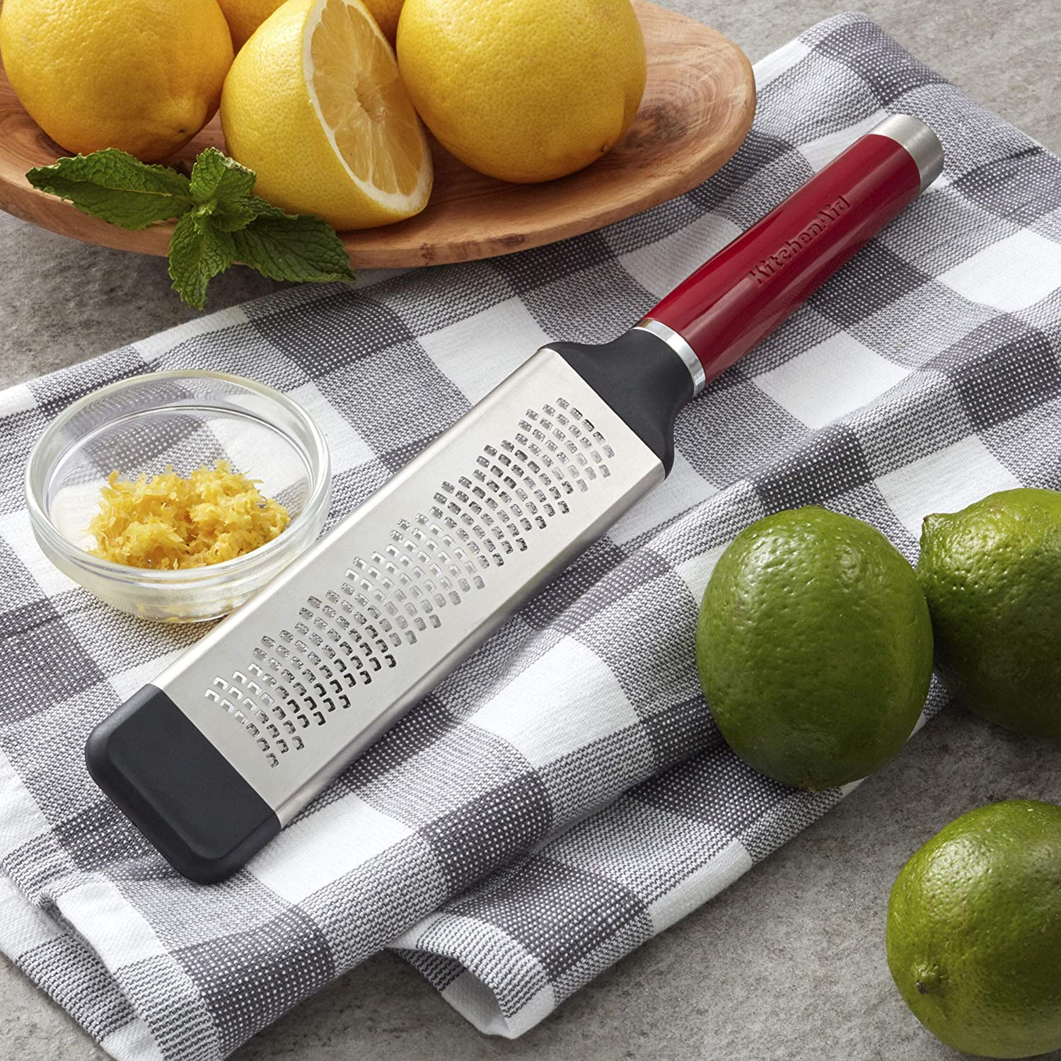 Empire Red Stainless Steel KitchenAid KO321OHERA Gourmet Etched Fine Grater