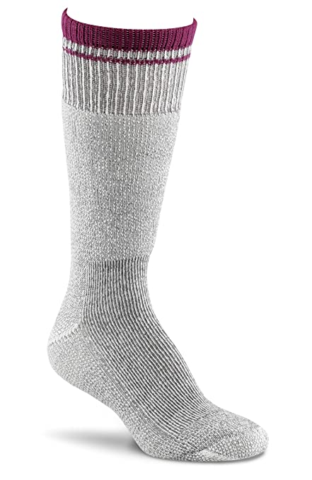 Fox River Womens Her Field Boot Socks, Charcoal Mix/Berry, Medium