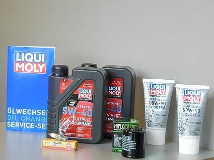 Kit de mantenimiento Piaggio X10 125 Aceite de aceite Bujía Service Inspección ölwechsel: Amazon.es: Coche y moto