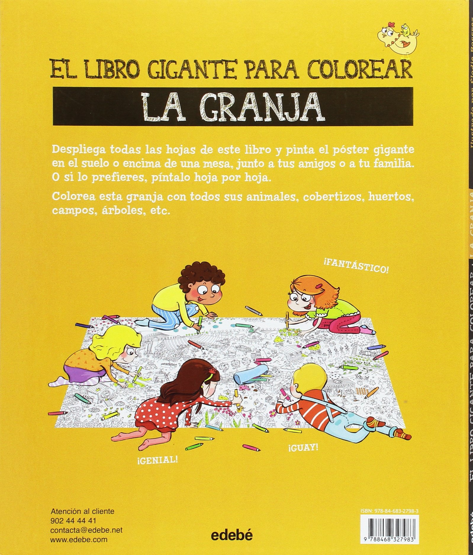 EL LIBRO GIGANTE PARA COLOREAR: la granja: Éditions Rustica: 9788468327983: Amazon.com: Books