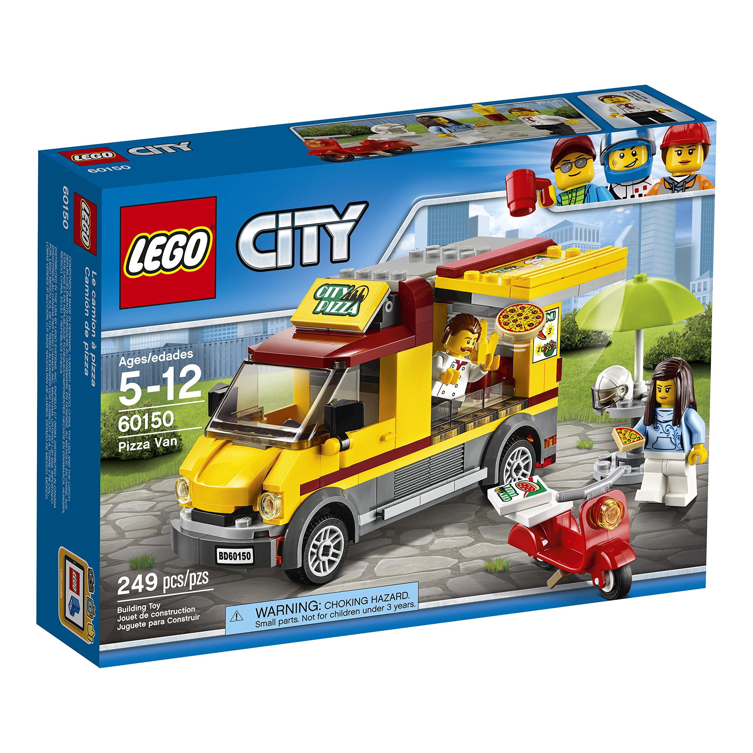 LEGO City Great Vehicles Pizza Van 60150 Construction Toy (249 Pieces) by LEGO