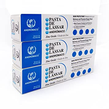 Pasta De Lassar Original Diaper Rash Ointment 2.1 oz tube (Pack of 3)