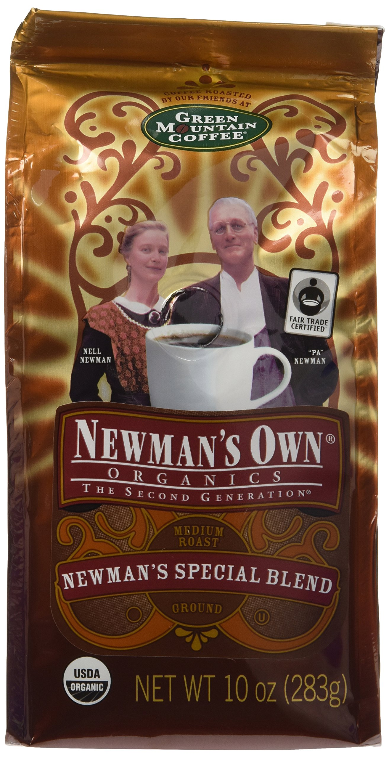 Newman's Own Organic Special Blend Ground Coffee, 10-Ounce Bags (Pack of 3)