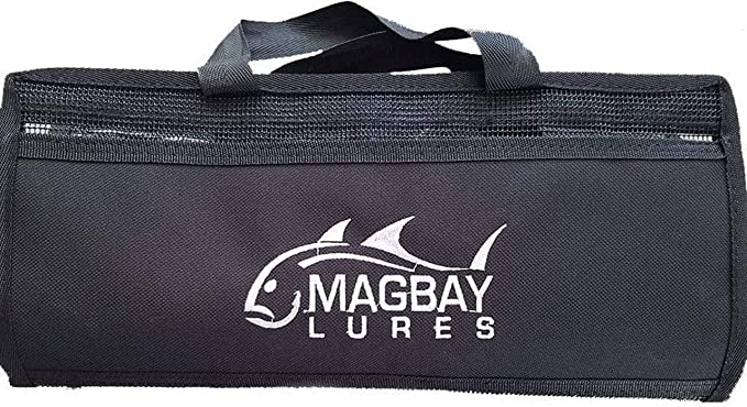 minansostey Fishing Soft Lure Bags Canvas Waterproof Sequin Jig Bag Bait Bag Tackle Bag