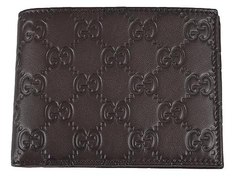 52e2f246ffb Amazon.com  Gucci 278596 Men s Brown Leather GG Guccissima Monogram ...