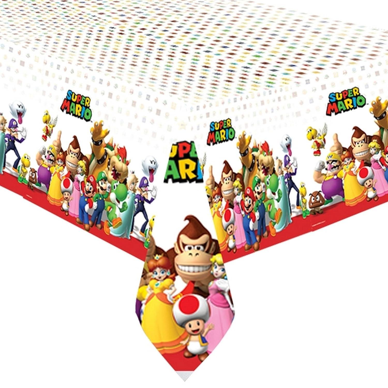 Super Mario mantel de Amscan de fiesta de pl/ástico Multicolor 1.2m x 1.8m