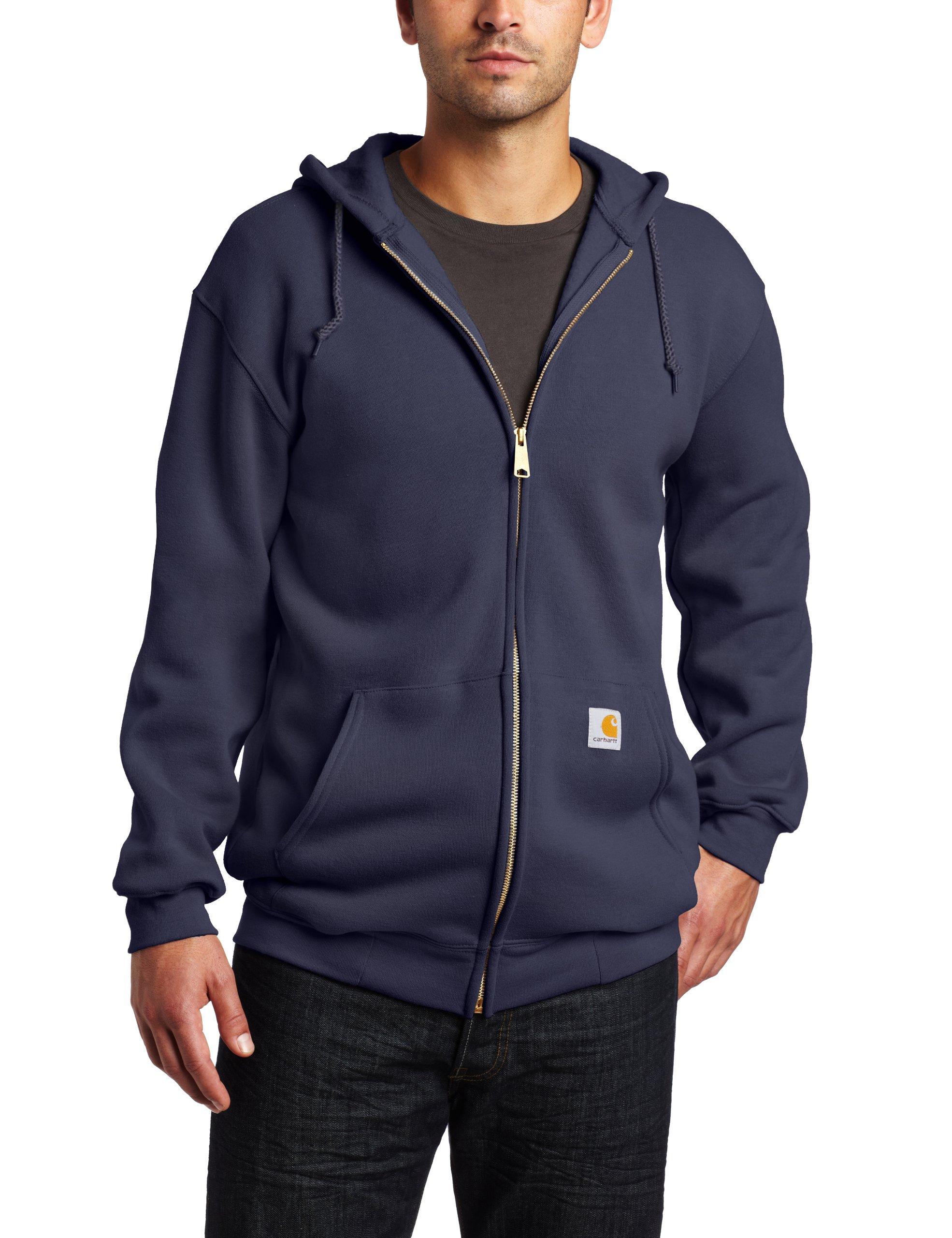 Carhartt Men's Midweight Hooded Zip-front Sweatshirt,Navy  (Closeout),Medium by Carhartt