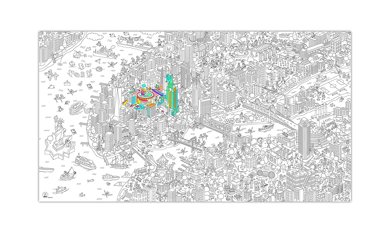 Amazon.com: NYC Coloring Poster - NYC Medium Folded: Toys & Games